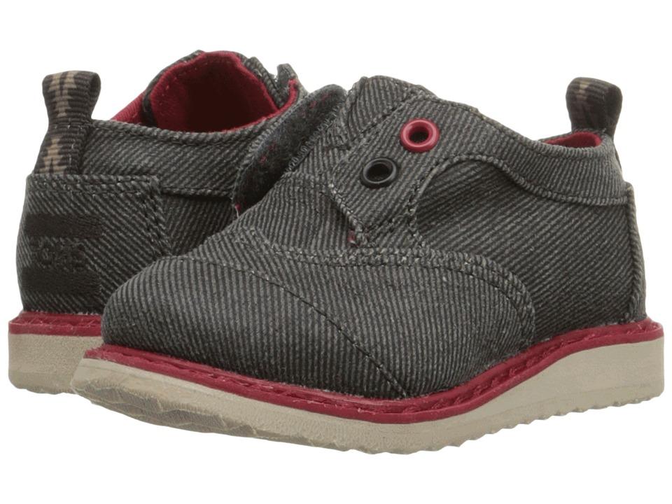 TOMS Kids - Brogue Dress (Infant/Toddler/Little Kid) (Ash Twill) Boys Shoes