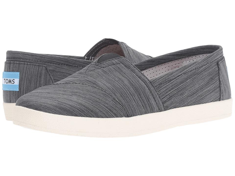 TOMS - Avalon Slip-On (Black Stripe Nylon) Women's Slip on Shoes