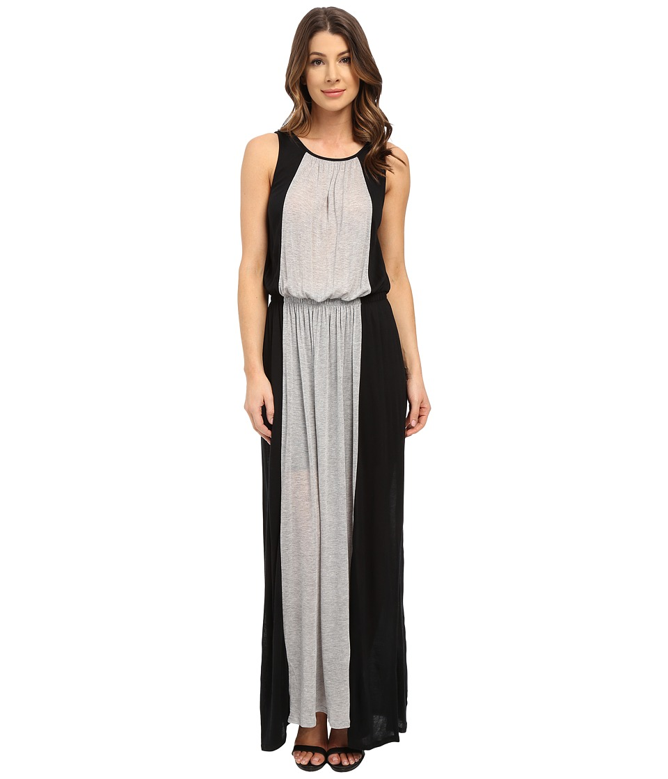 Three Dots - Nicole Sleeveless Maxi Dress (Black/Granite) Women's Dress