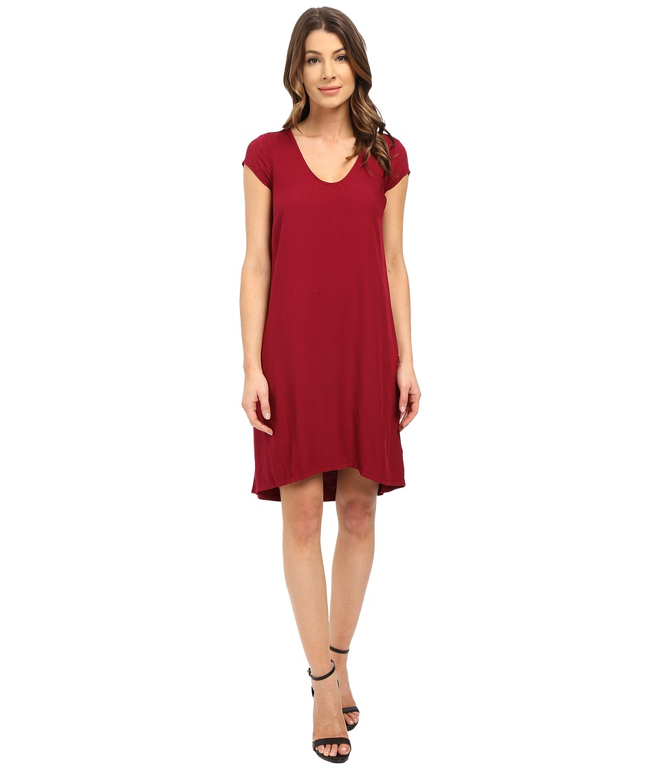Three Dots Sally Cap Sleeve Dress (Plum Berry) Women