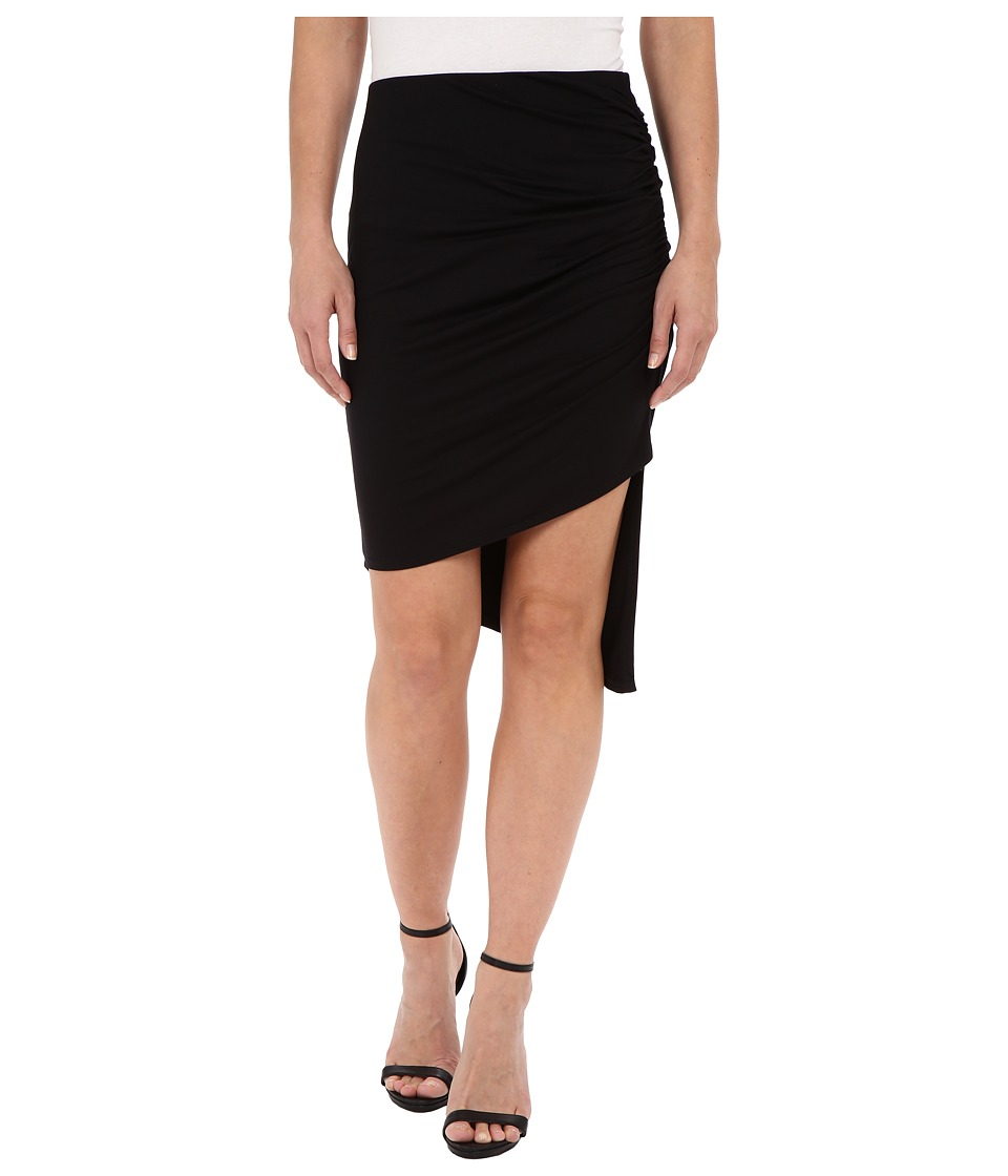 Three Dots - Mei Asymmetric Skirt (Black) Women's Skirt