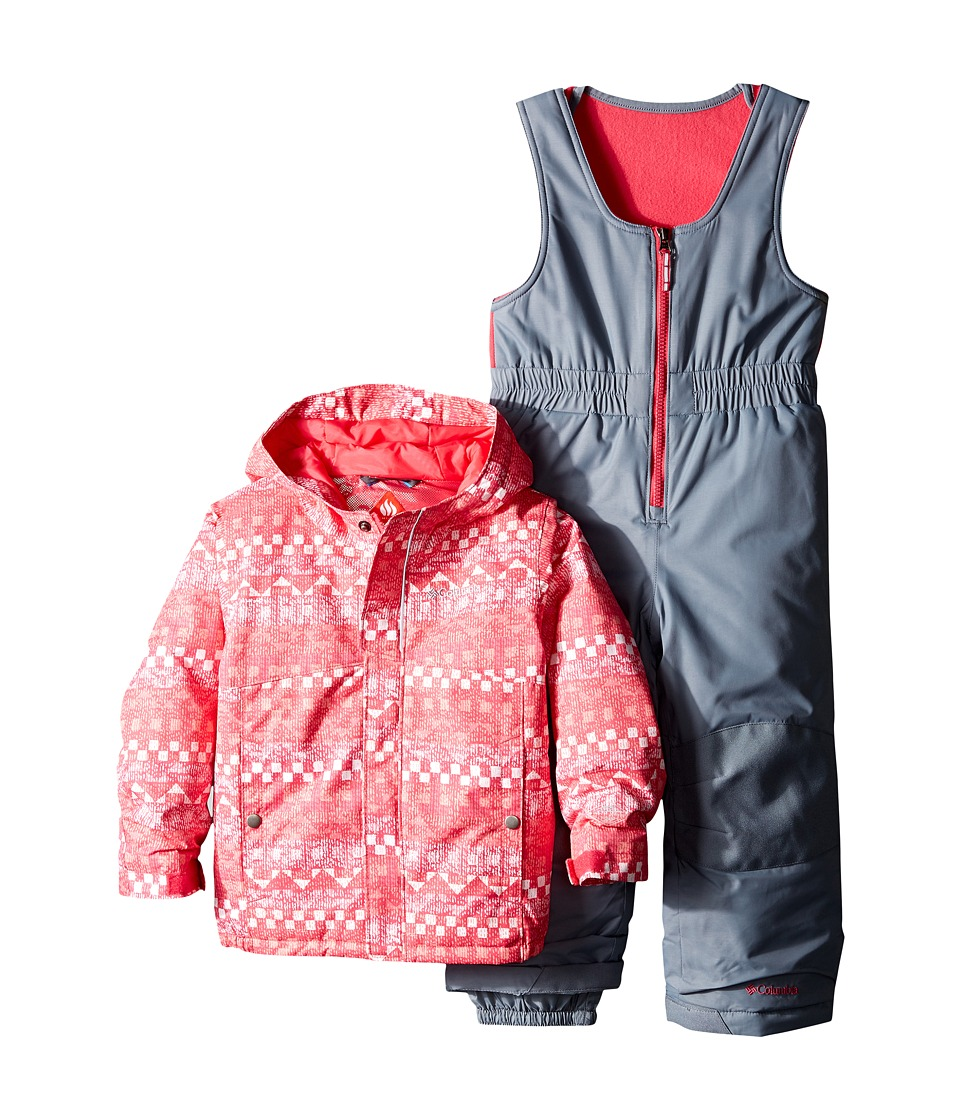 Columbia Kids - Buga Set (Toddler) (Punch Pink Fairisle/Punch Pink/Grey Ash) Kid's Active Sets