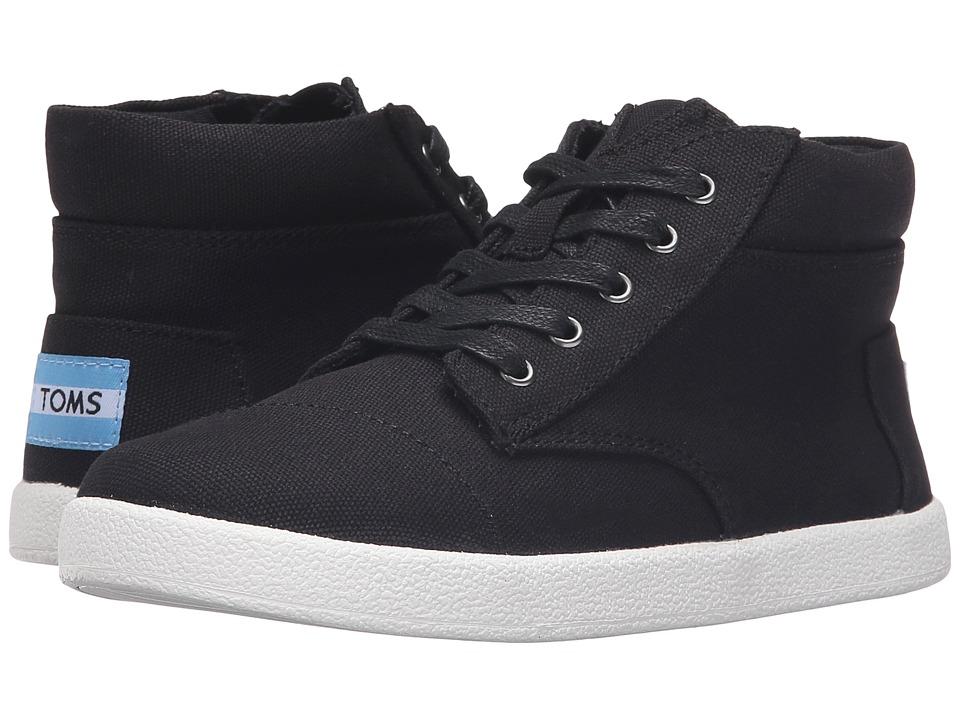 TOMS Kids - Paseo High Sneaker (Little Kid/Big Kid) (Black Canvas) Boys Shoes