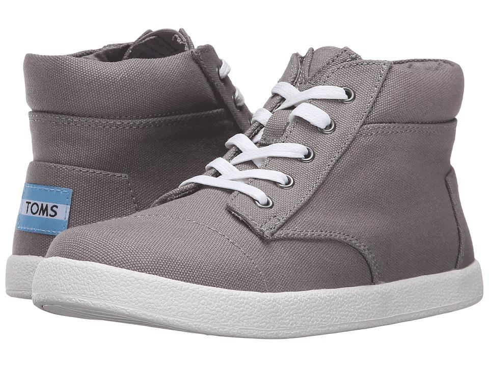 TOMS Kids - Paseo High Sneaker (Little Kid/Big Kid) (Ash Canvas) Boys Shoes