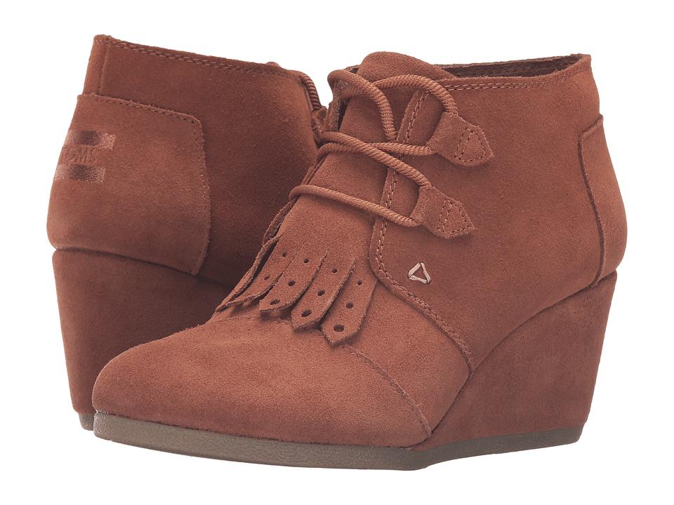 TOMS - Desert Wedge (Rawhide Suede/Kiltie) Women's Wedge Shoes