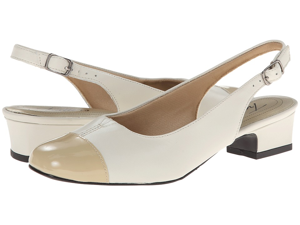 Trotters - Dea (Bone/Taupe Leather) Women's 1-2 inch heel Shoes