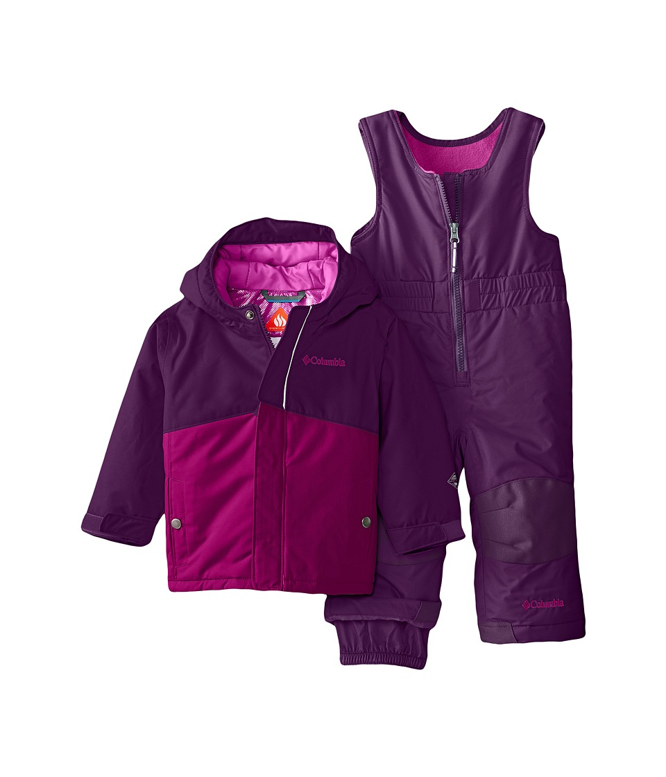 Columbia Kids - Buga Set (Infant) (Iris Glow/Bright Plum) Kid's Active Sets