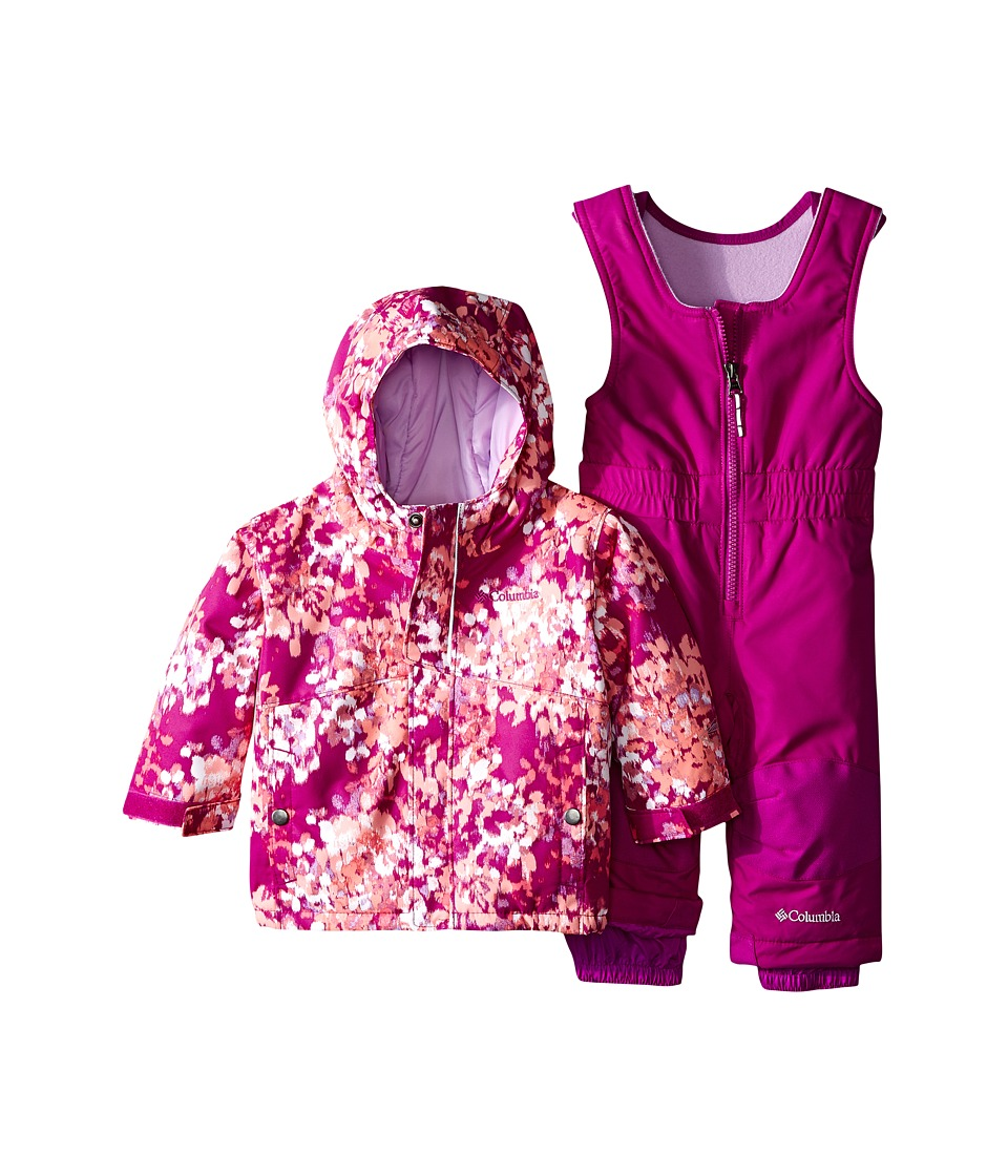 Columbia Kids - Buga Set (Infant) (Bright Plum Watercolor/Bright Plum) Kid's Active Sets