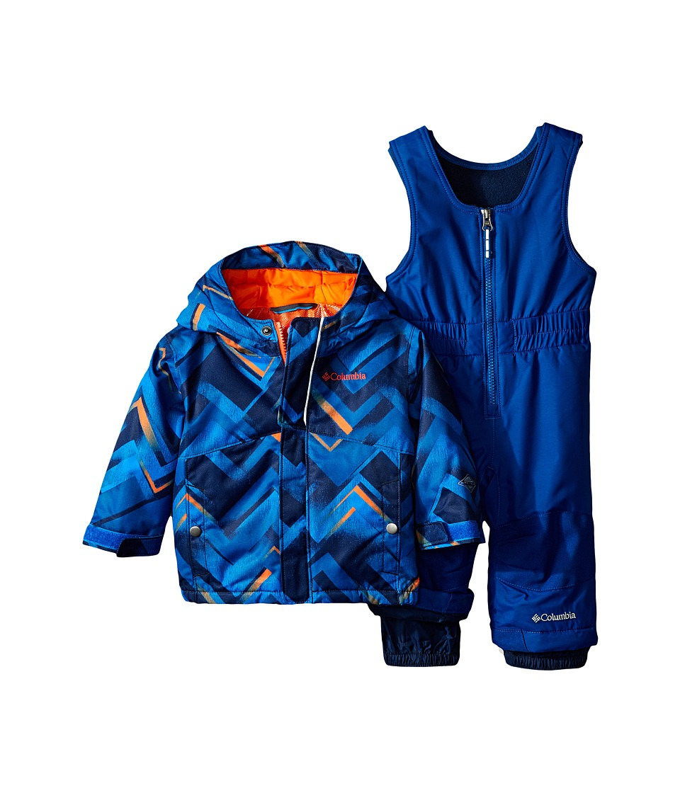 Columbia Kids - Buga Set (Infant) (Super Blue Print/Tangy Orange/Marine Blue) Kid's Active Sets