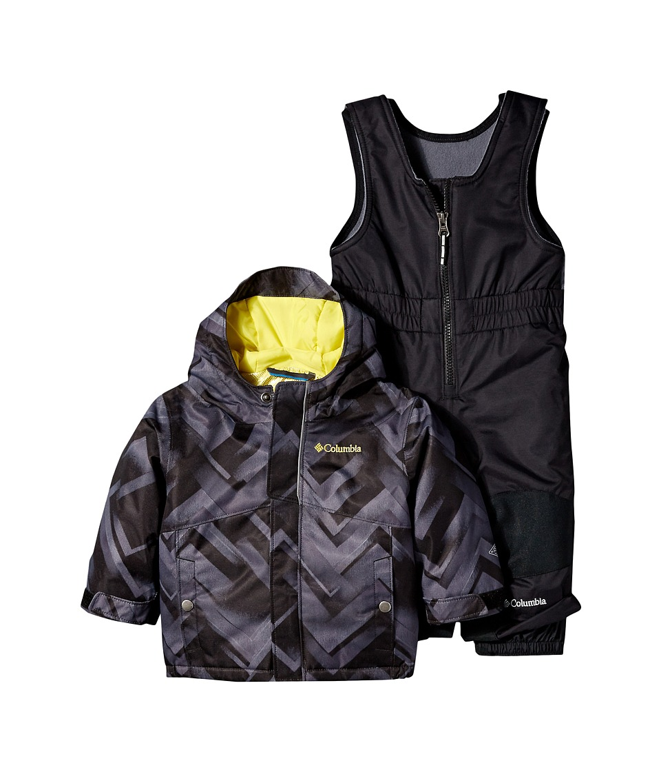 Columbia Kids - Buga Set (Infant) (Black Print/Mineral Yellow/Black) Kid's Active Sets