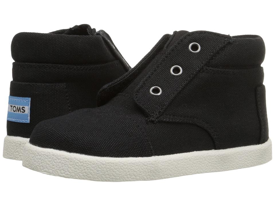 TOMS Kids - Paseo High Sneaker (Infant/Toddler/Little Kid) (Black Canvas) Boys Shoes