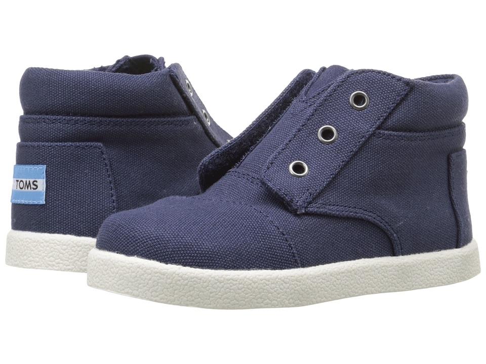 TOMS Kids - Paseo High Sneaker (Infant/Toddler/Little Kid) (Navy Canvas) Boys Shoes