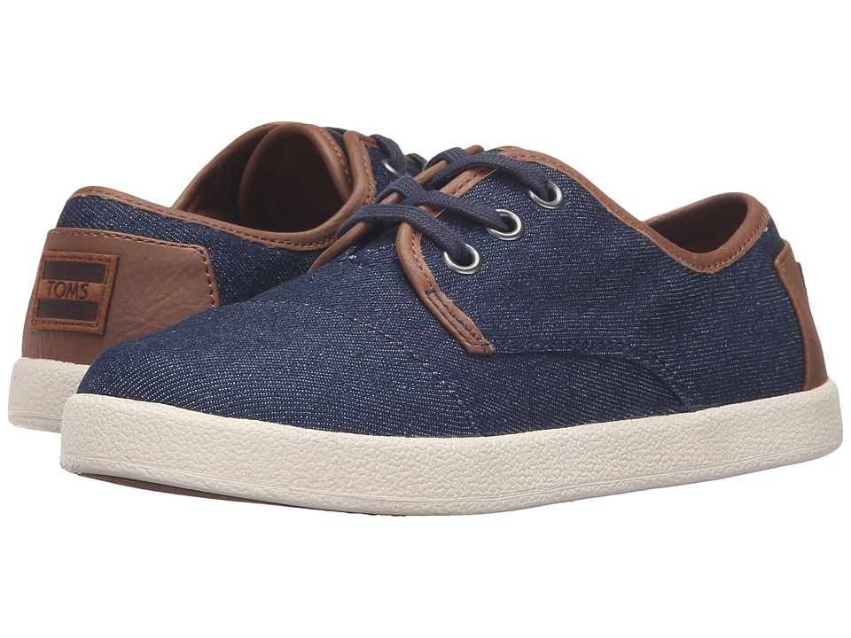 TOMS Kids - Paseo Sneaker (Little Kid/Big Kid) (Blue Denim/Textile) Kids Shoes