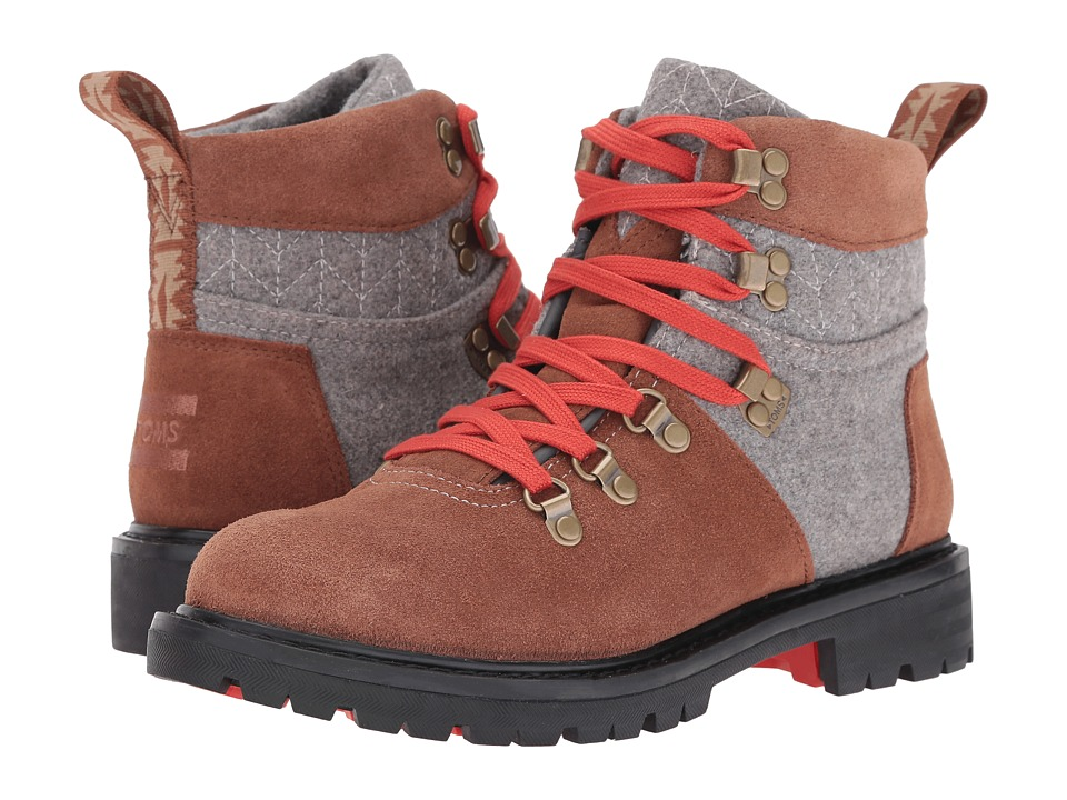 TOMS Summit Boot (Rawhide Suede/Grey Wool) Women