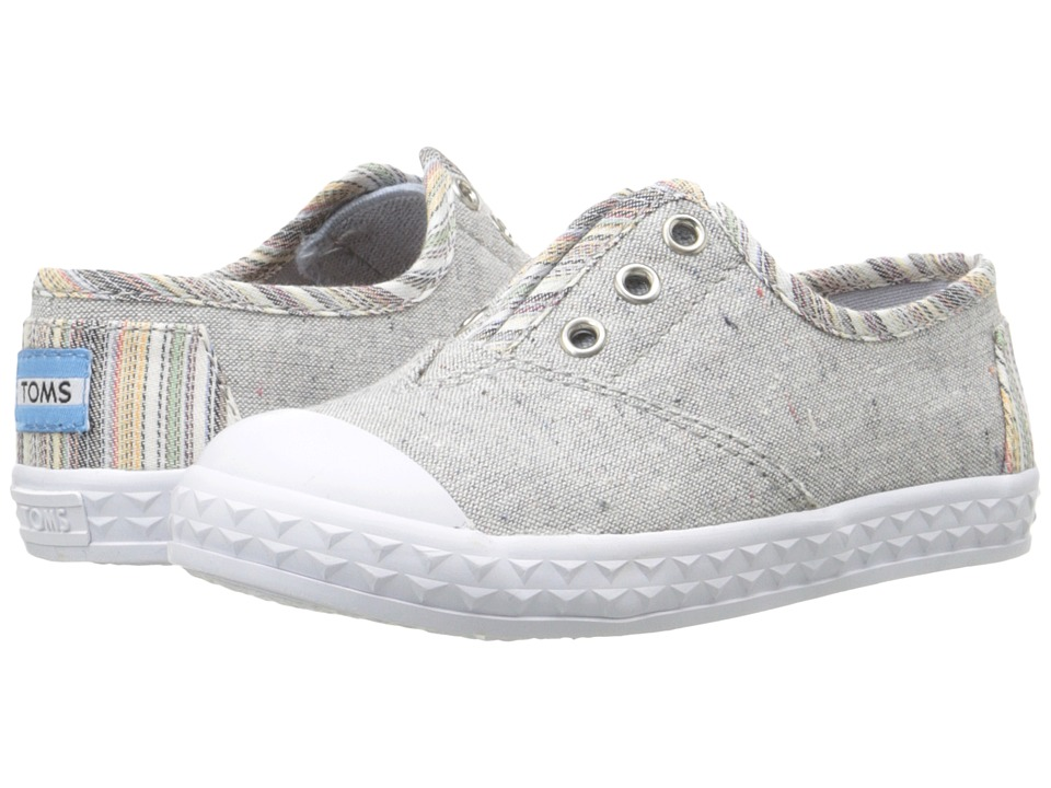 TOMS Kids - Zuma Sneaker (Infant/Toddler/Little Kid) (Light Grey Speckle Chambray) Girls Shoes