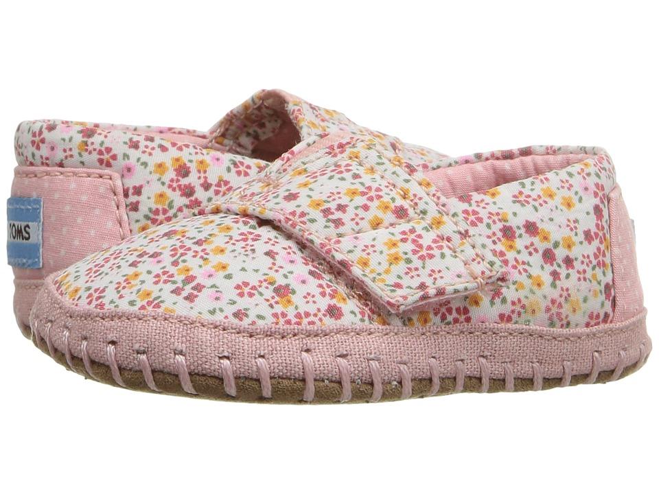 TOMS Kids - Alpargata Layette (Infant/Toddler) (Pink Canvas Ditsy Floral) Girls Shoes