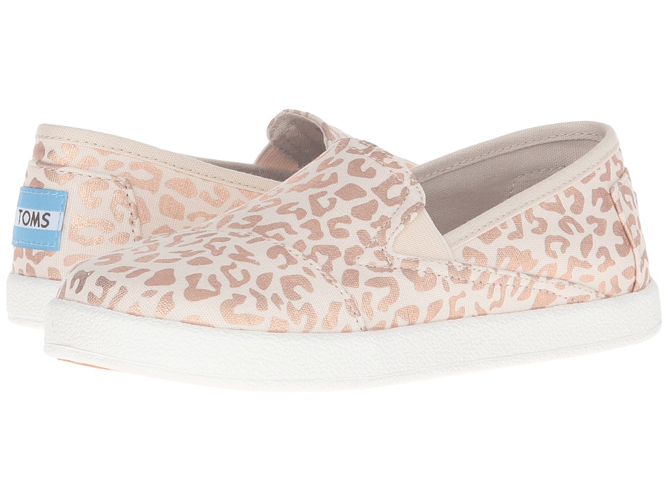 TOMS Kids - Avalon Slip-On (Little Kid/Big Kid) (Natural Cheetah Foil) Girls Shoes