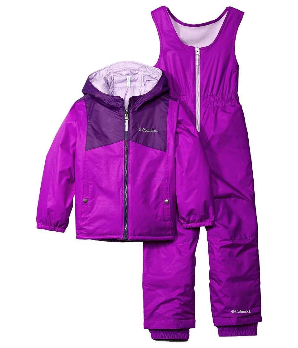 Columbia Kids - Double Flake Set (Toddler) (Iris Glow/Bright Plum/Hydrangea) Kid's Active Sets