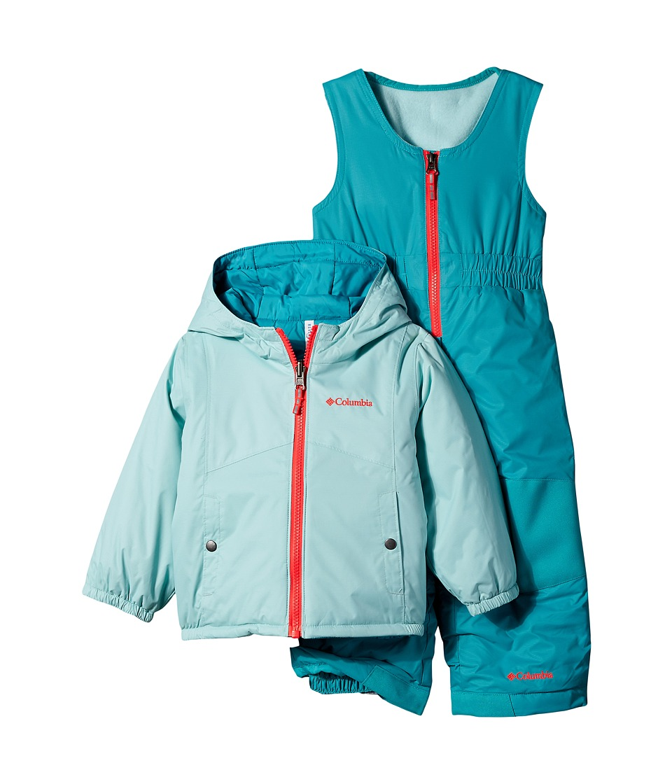 Columbia Kids - Double Flake Set (Toddler) (Spray/Miami/Laser Red) Kid's Active Sets