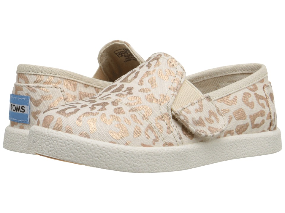TOMS Kids - Avalon Slip-On (Infant/Toddler/Little Kid) (Natural Cheetah Foil) Girls Shoes