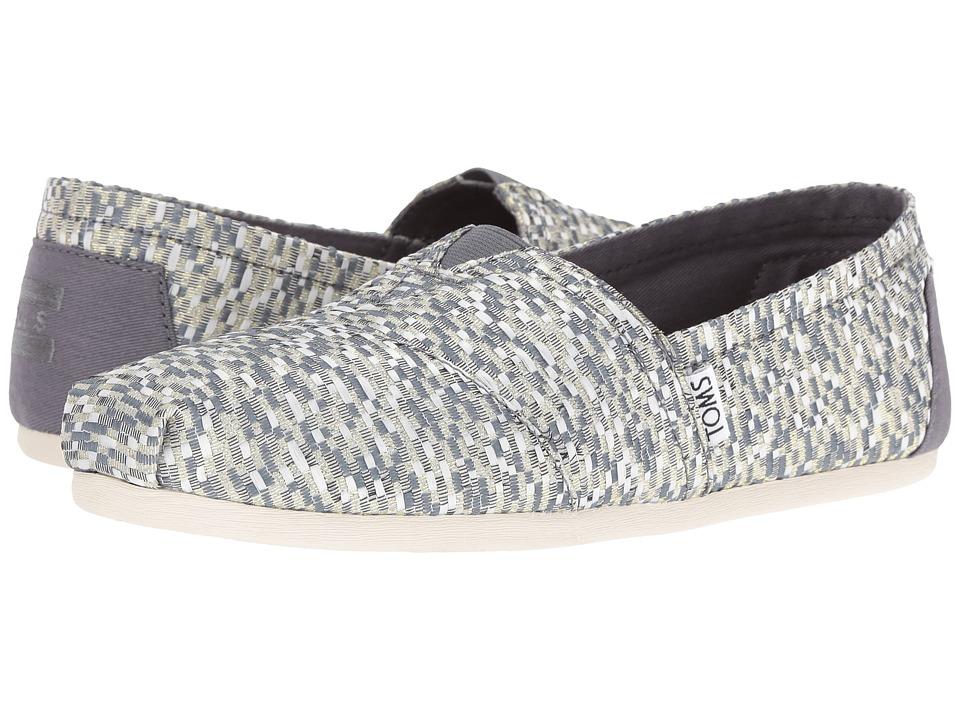 TOMS - Seasonal Classics (Silver Glitz Woven) Women's Slip on Shoes