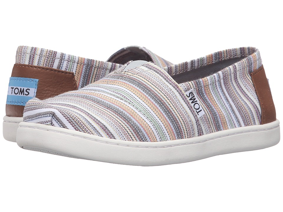 TOMS Kids - Seasonal Classics (Little Kid/Big Kid) (Mini Stripe Textile) Girls Shoes