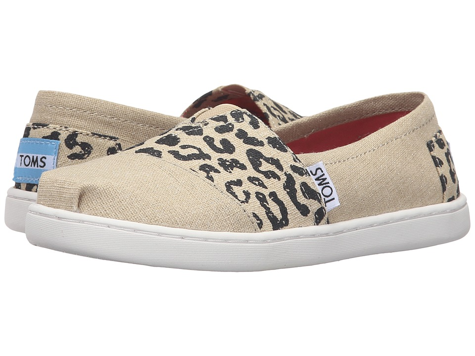 TOMS Kids - Seasonal Classics (Little Kid/Big Kid) (Cheetah Metallic Linen) Girls Shoes
