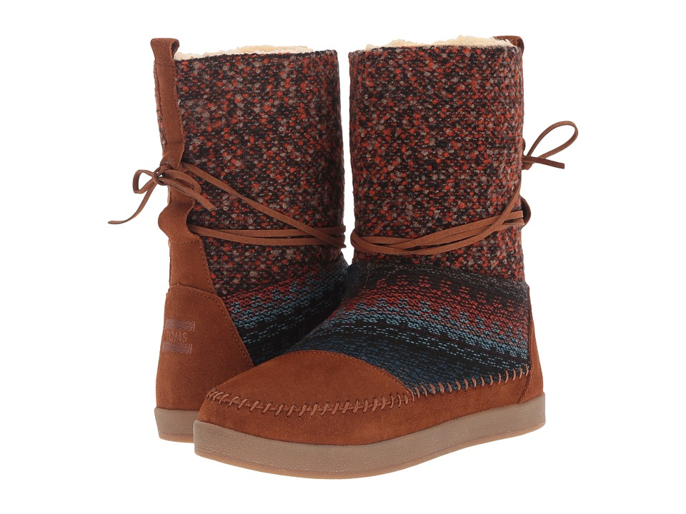 TOMS - Nepal Boot (Cinnamon Suede/Textile) Women's Pull-on Boots