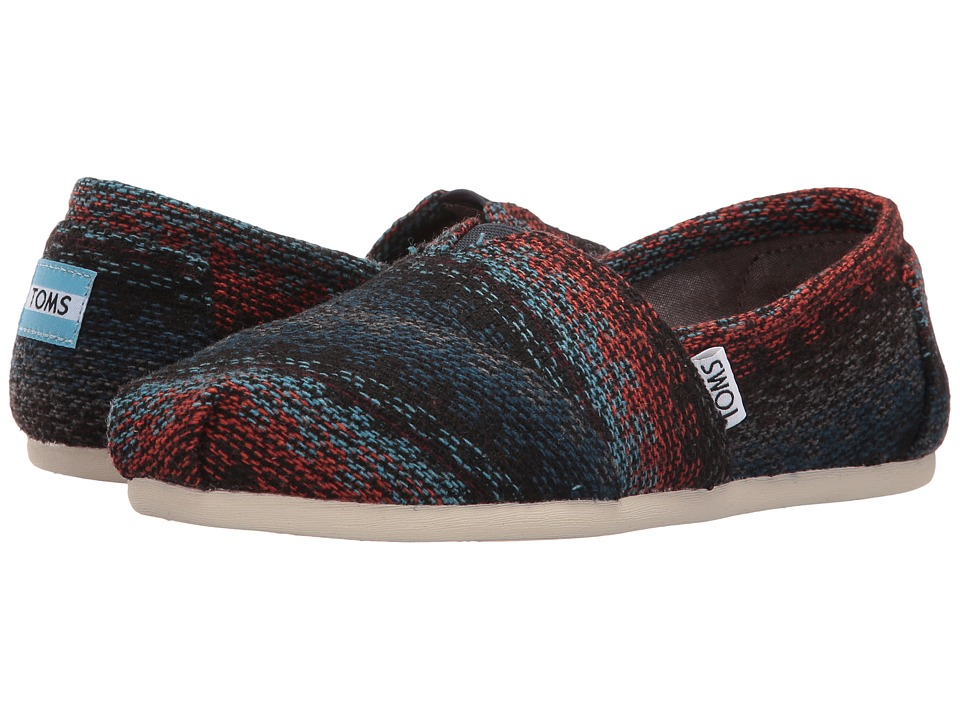 TOMS - Seasonal Classics (Rust Multi Stripe Woven) Women's Slip on Shoes