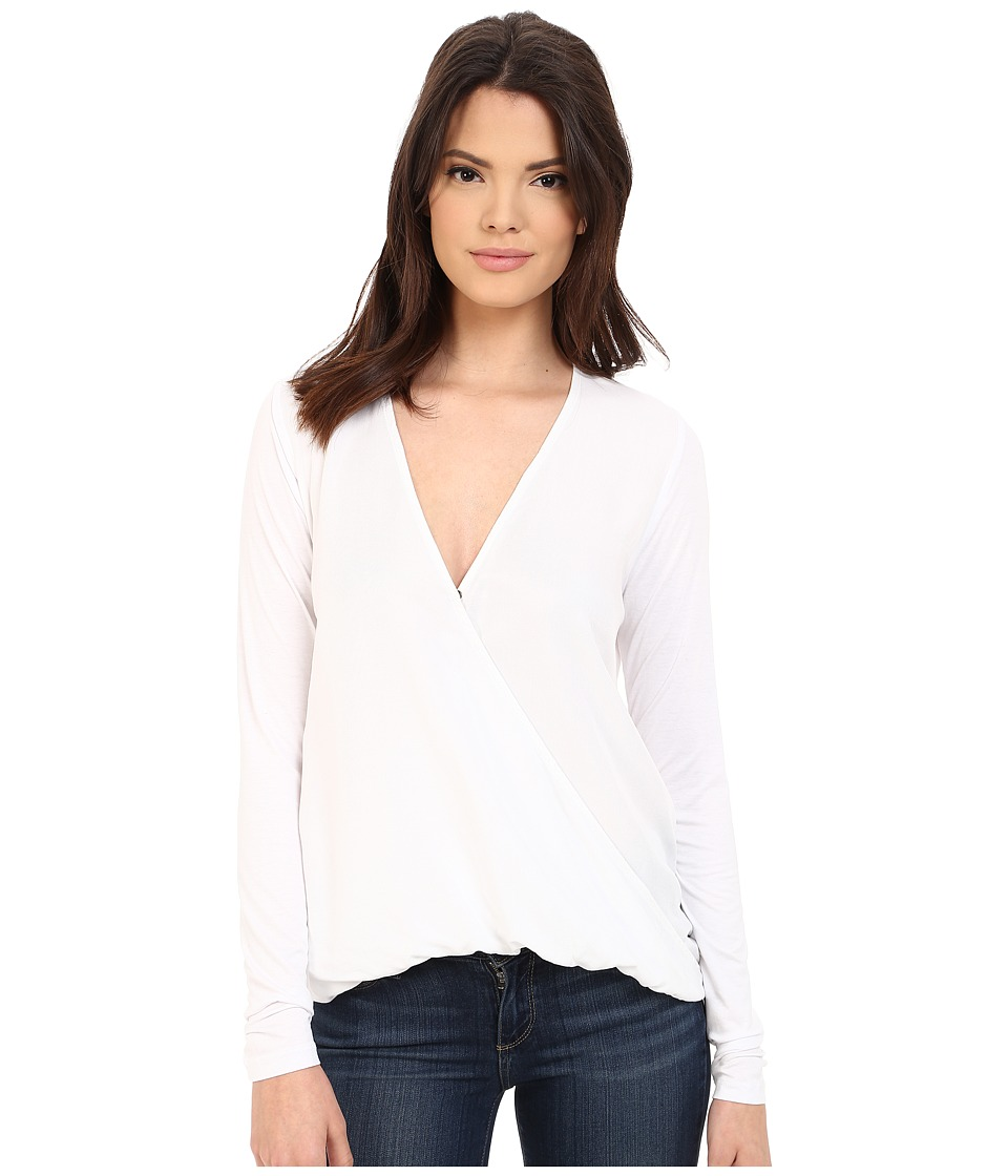 Three Dots - Georgia Twist Front Top (White) Women's Blouse
