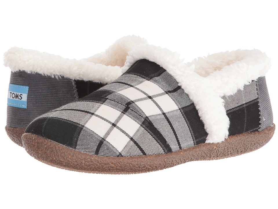 TOMS - Slipper (Black/White Plaid) Women's Slippers