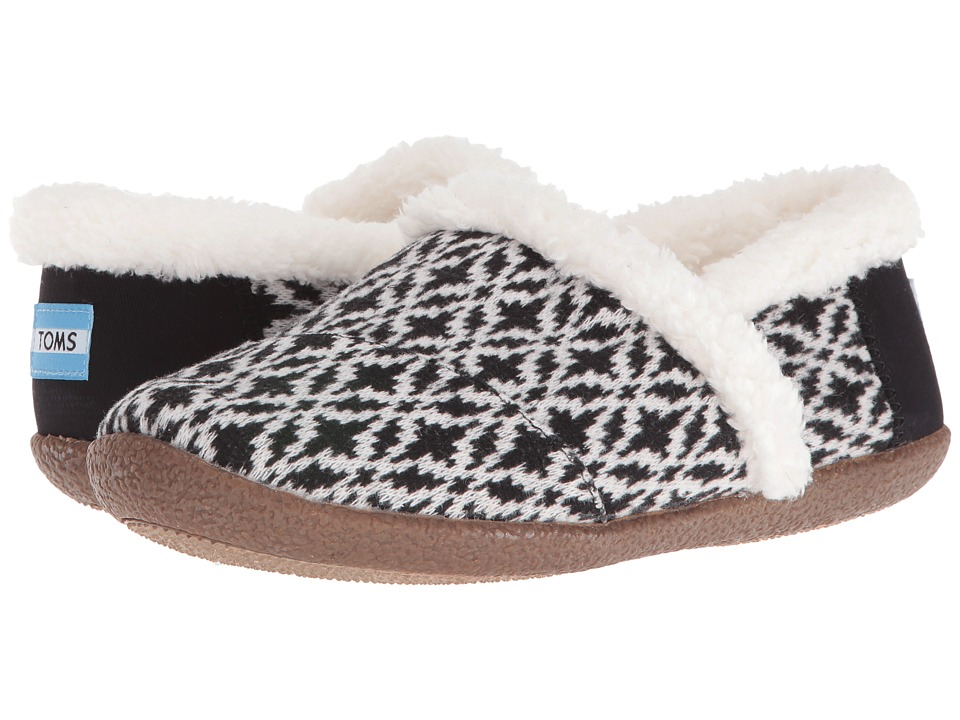TOMS - Slipper (Black/White Fair Isle) Women's Slippers