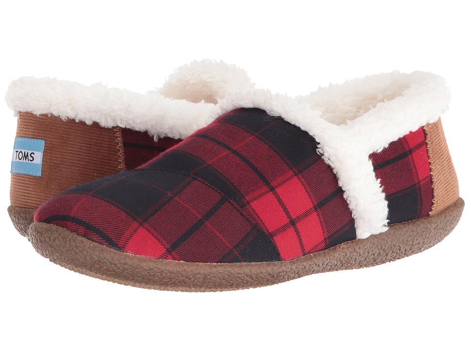 TOMS - Slipper (Red/Black Plaid) Women's Slippers