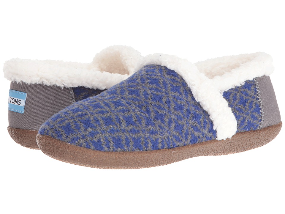 TOMS - Slipper (Blue/Grey Fair Isle) Women's Slippers