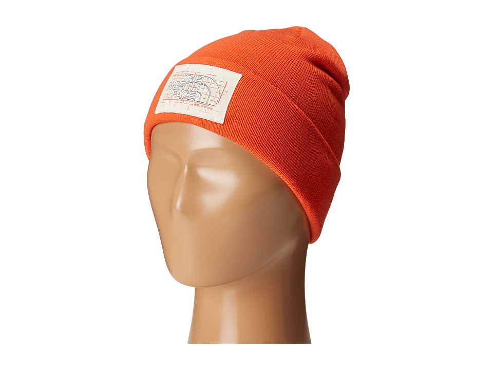 The North Face Kids - Dock Worker Beanie (Big Kids) (Mandarin Red) Beanies