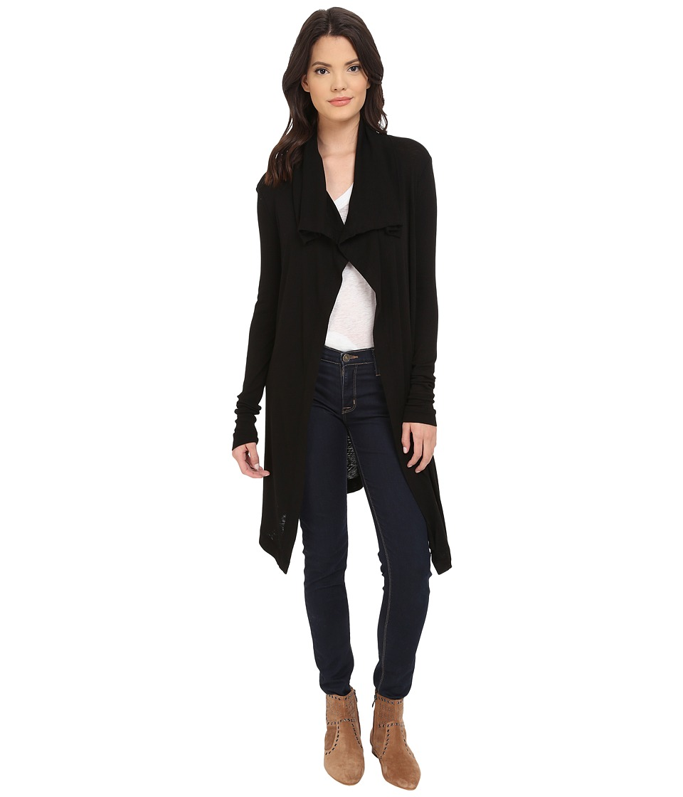 Three Dots - Alexis Open Cardigan (Black) Women's Blouse