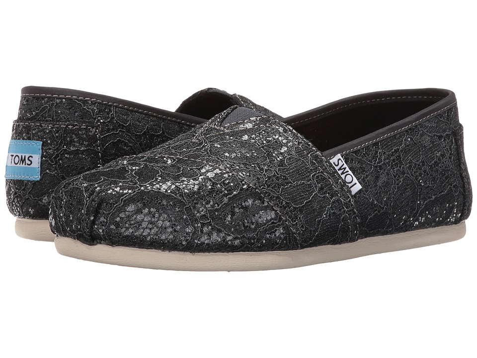 TOMS Seasonal Classics Pewter Lace Glitz Womens Slip on  Shoes