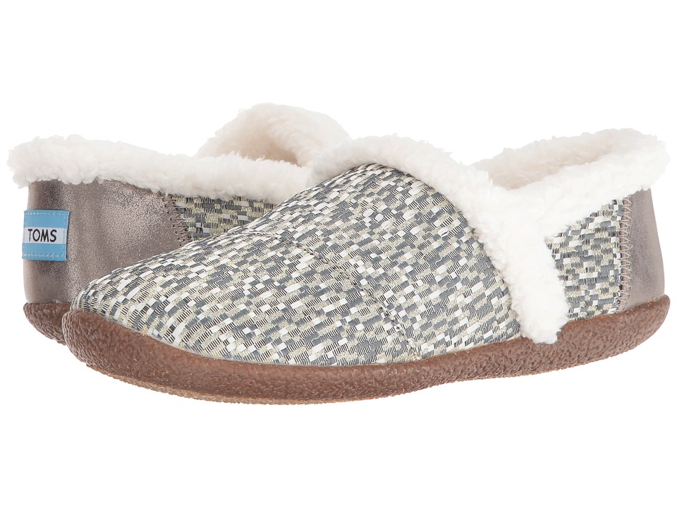 TOMS - Slipper (Silver Glitz Woven) Women's Slippers