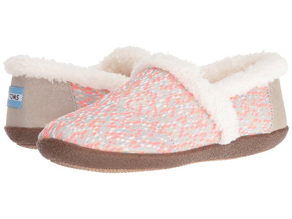 TOMS - Slipper (Pink Glitz Woven) Women's Slippers