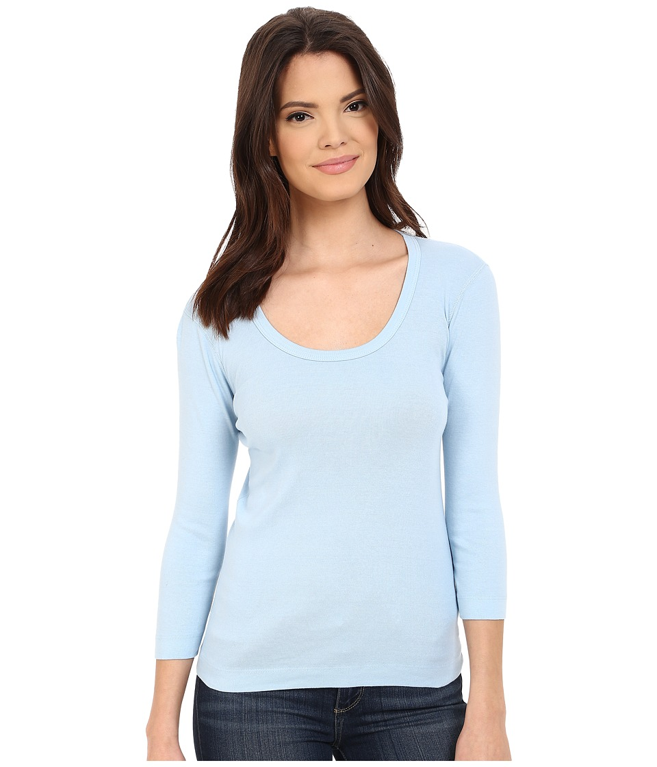 Three Dots - 3/4 Sleeve Scoop Neck (Spring Falls) Women's T Shirt