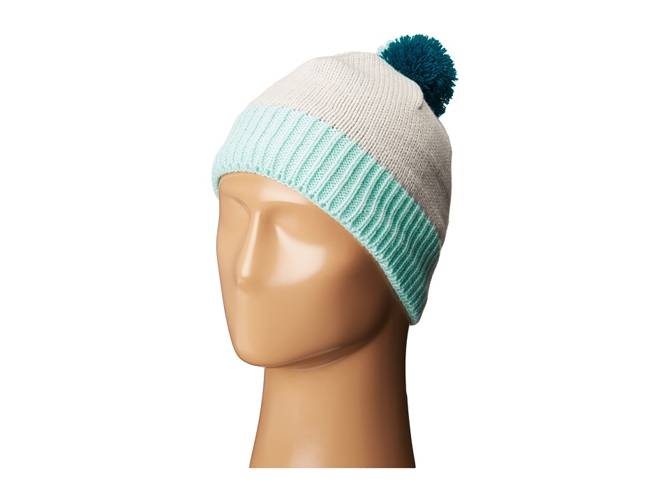 The North Face Kids - Pom Pom Beanie (Big Kids) (Luna Ice Grey/Fanfare Green) Beanies