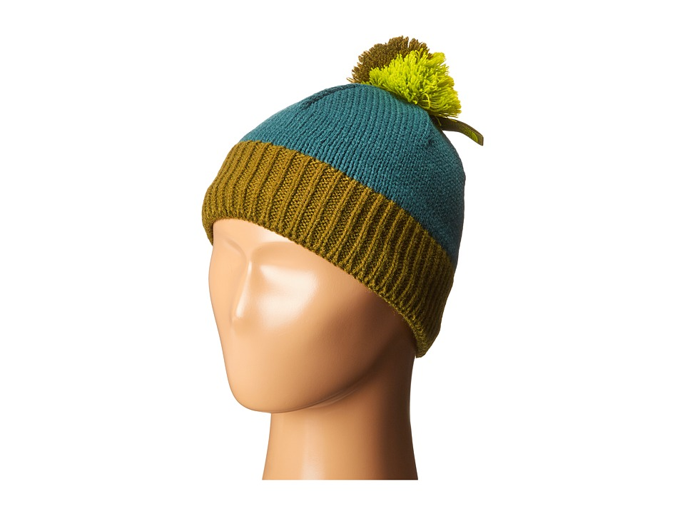 The North Face Kids - Pom Pom Beanie (Big Kids) (Deep Teal Blue/Terrarium Green) Beanies