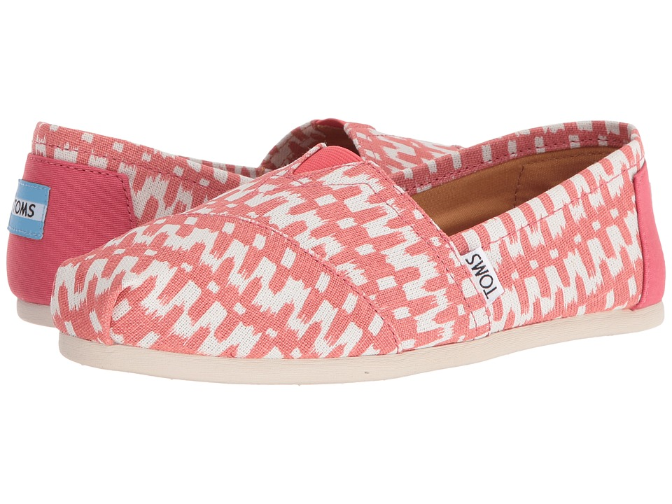 TOMS - Seasonal Classics (Spiced Coral Ikat) Women's Slip on Shoes