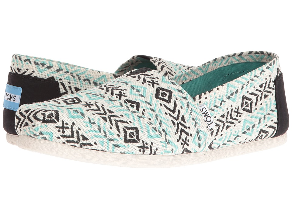 TOMS - Seasonal Classics (Blue Multi Tribal Print) Women's Slip on Shoes