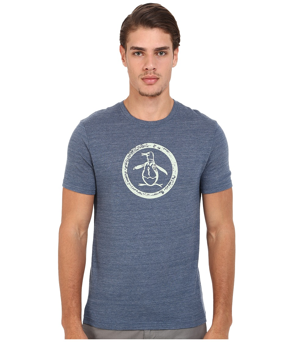 Original Penguin - Circle Logo Tee (Dark Denim) Men's T Shirt