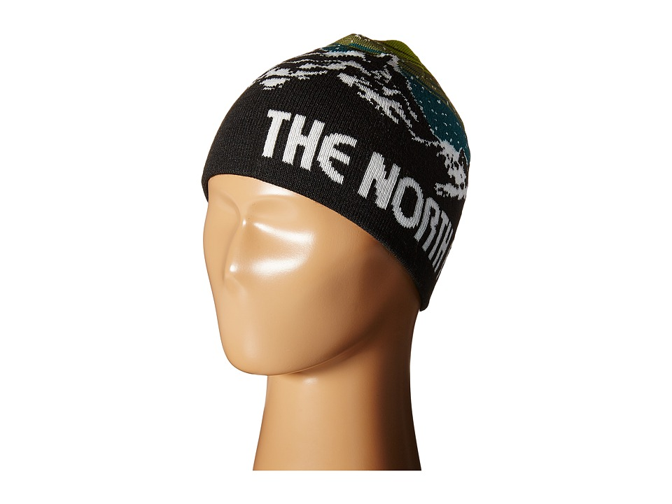 The North Face Kids - Anders Beanie (Big Kids) (TNF Black/Olive Green) Beanies