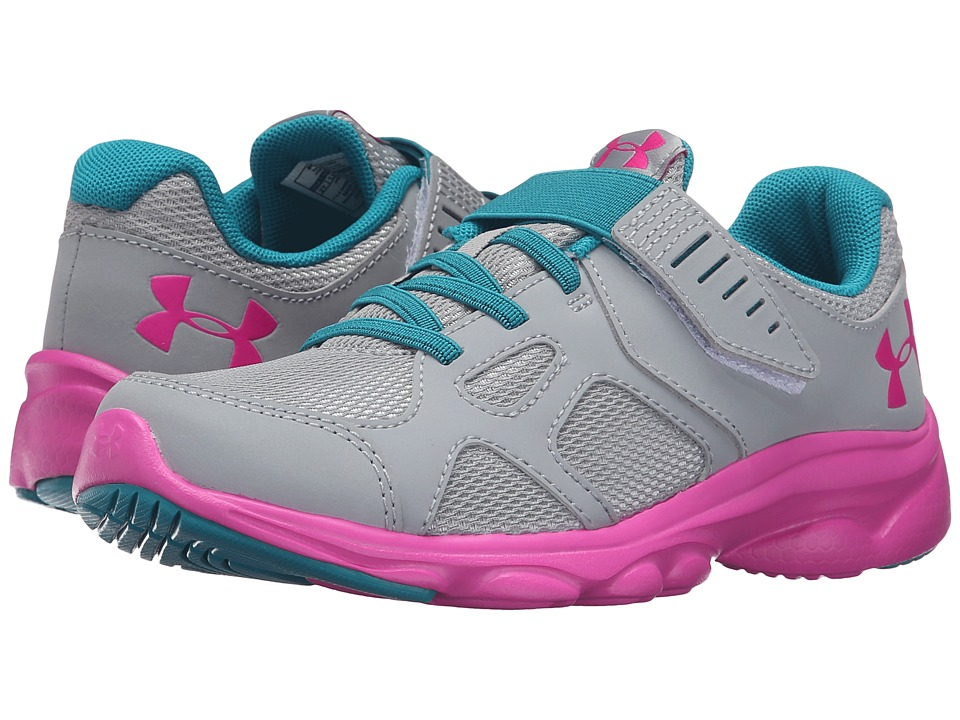 Under Armour Kids UA GPS Pace RN AC (Little Kid) (Overcast Grey/Lunar Pink/Lunar Pink) Girls Shoes