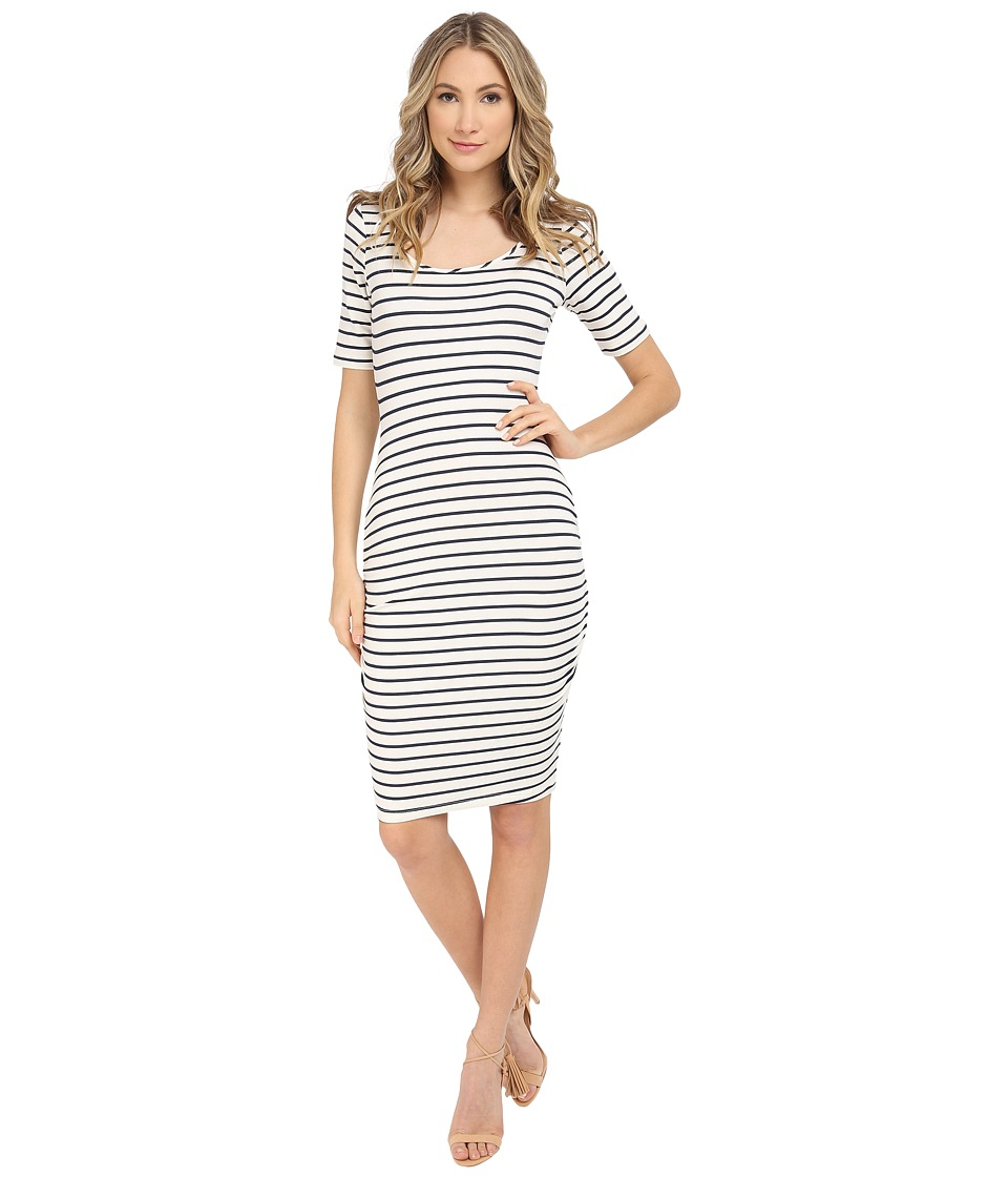 Tart Jasmin Dress (White/Navy Stripe) Women