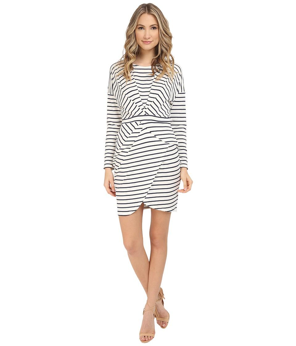 Tart - Makayla Dress (White/Navy Stripe) Women's Dress