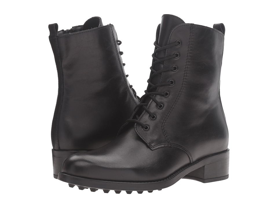 La Canadienne - Sunny (Black Leather) Women's Lace-up Boots